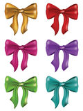 Silk Bows Set Stock Photos