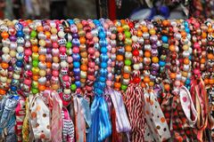 Silk bracelets Royalty Free Stock Images