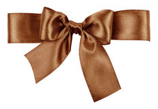 Silk brown bow Stock Image