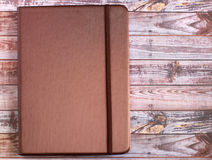 Silk brown cover note book Stock Image