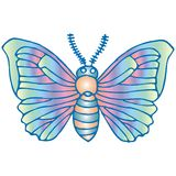 Silk butterfly. Art illustration of a silk butterfly Royalty Free Stock Image