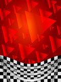 Silk checked flag on red background Stock Photography