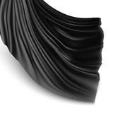 Silk cloth. Illustration with black silk cloth. Black silk cloak stock illustration