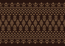 Silk cloth Brown pattern Stock Photo