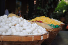 Silk cocoons Royalty Free Stock Photo