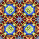 Silk colorful ribbons background, backdrop for scrapbook, top view. Seamless pattern kaleidoscope montage Royalty Free Stock Photos