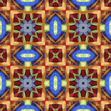 Silk colorful ribbons background, backdrop for scrapbook, top view. Seamless pattern kaleidoscope montage Stock Photo