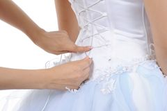 Silk Corset Bride Stock Photography