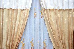 Silk curtain Royalty Free Stock Photography