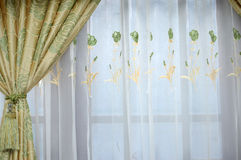 Silk curtain Royalty Free Stock Photo