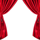 Curtains. Silk curtains. isolated on white background Stock Images