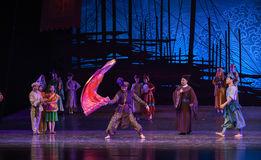 """Silk dance-Dance drama """"The Dream of Maritime Silk Road"""". Dance drama """"The Dream of Maritime Silk Road"""" centers on the plot of two generations of Stock Image"""