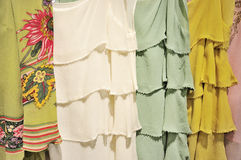 Silk dress. Image of silk dress in a clothing store Stock Images