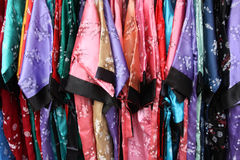 Silk dress shopping Royalty Free Stock Images