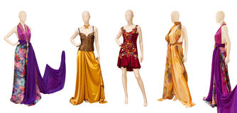 Silk dresses Royalty Free Stock Photo
