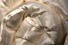 Silk Duvet-Material stockfotos