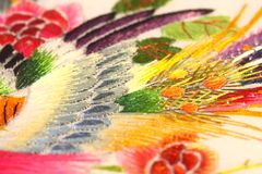 Silk embroidered art C Stock Photos
