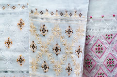 Silk embroidery Stock Photos