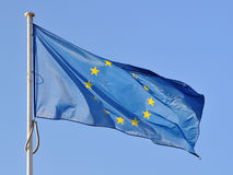 Silk EU flag Royalty Free Stock Images