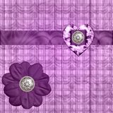 silk för hjärtalavendelband Fotografering för Bildbyråer