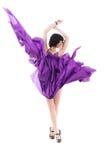 silk för purple för klänningflygflicka Royaltyfri Fotografi