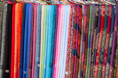 Silk Fabric. This colorful shot is of some popular silk fabrics found in a market in Yangshuo, China Royalty Free Stock Image