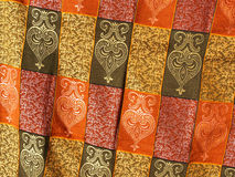 Silk fabric. Colorful silk fabric in a market, Morocco Stock Photos