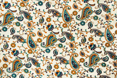 Silk fabric with an asian pattern Royalty Free Stock Images