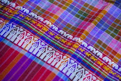 Silk fabric close-up of beautiful texture and multi-colors,Thail. And Royalty Free Stock Photos
