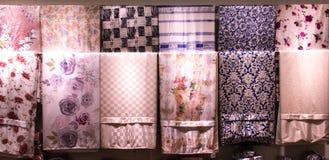 Silk fabric closeup of beautiful texture. And multicolors Royalty Free Stock Photos