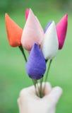 Silk fabric flowers Stock Photography
