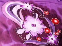 Silk fabric patterned batik Royalty Free Stock Image