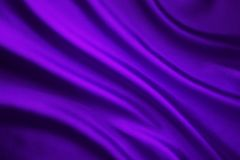 Silk Fabric Wave Background, Abstract Purple Satin Cloth Royalty Free Stock Photo