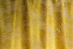 The silk fabric which has been beautifully draped in the form of Royalty Free Stock Image