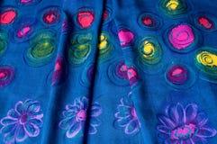 Silk fabrics. Abstract Art Painting natulal silk Stock Image