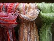 Silk fabrics Stock Image