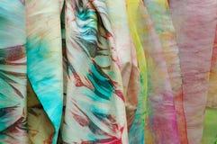 Silk fabrics Stock Photos