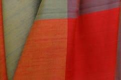 Silk fabrics. Beautiful color on handmade Silk Stock Photography
