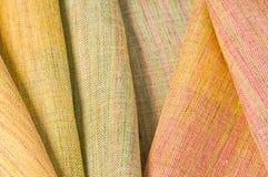 Silk fabrics. Beautiful handmade Thai silk fabrics Stock Photos