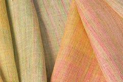 Silk fabrics. Beautiful handmade silk in Thailand Royalty Free Stock Photos