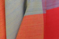 Silk fabrics. Colorful on handmade thai silk Royalty Free Stock Photography