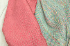 Silk fabrics. Silk for decoration, design on silk Stock Image