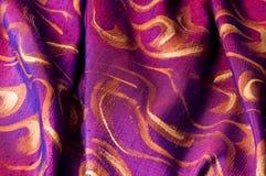 Silk fabrics. Dyed & paint on silk fabric Stock Photos