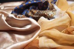 Silk fabrics. Royalty Free Stock Images