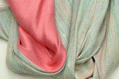 Silk fabrics. Silk texture, color for silk Stock Image