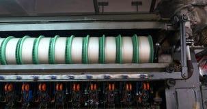 silk Fabrikfertigungsstraße des Gewebe 4k, Porzellan stock video