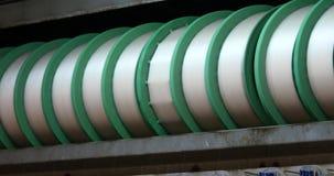 silk Fabrikfertigungsstraße des Gewebe 4k, Porzellan stock footage