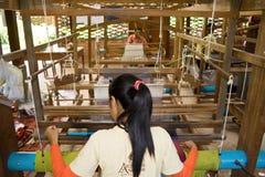 Silk factory Stock Image