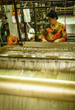 Silk factory Stock Images