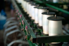 Silk factory Royalty Free Stock Image